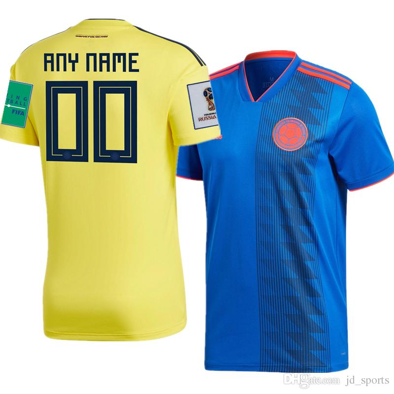 772743413 2019 2018 World Cup Colombia National Team Home Away Futbol Camisa Soccer  Jerseys Football Camisetas Shirt Kit Maillot From Jd_sports, $16.25 |  DHgate.Com
