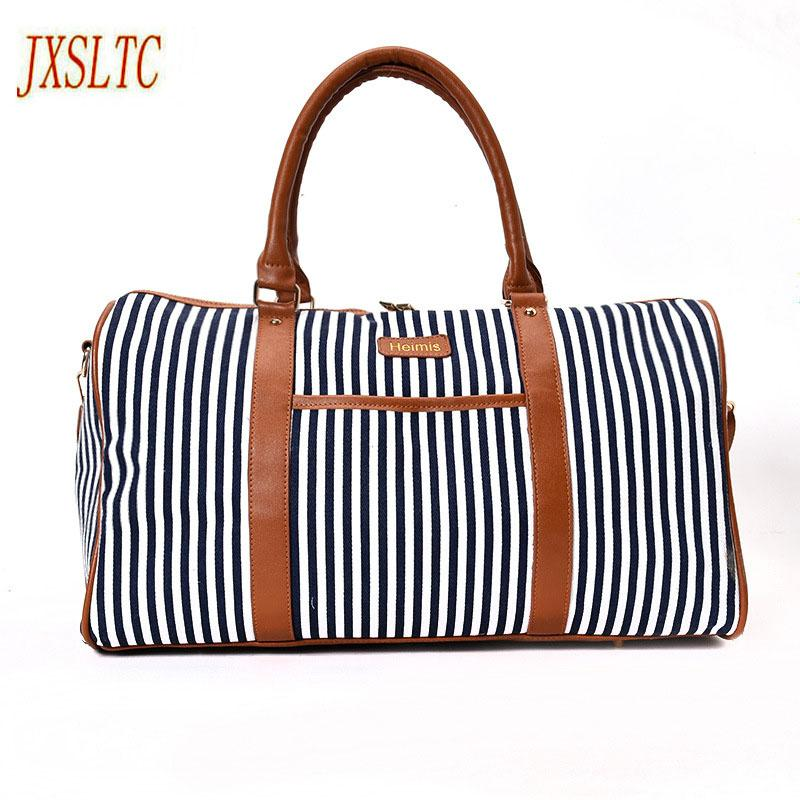 a27dca5cce JXSLTC Canvas Leather Women Travel Bag Women Travel Duffel Bags Tote Large  Weekend Bag Overnight Carry On Luggage Shoulder Bags.