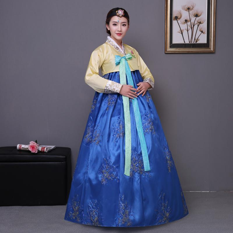Acquista Blu Ricamo Tradizionale Abito Coreano Rosa Donne Cotone Hanbok  Coreano Costume Nazionale Performance Sul Palco Abbigliamento Aisa A  80.12  Dal ... 88e075ce8da