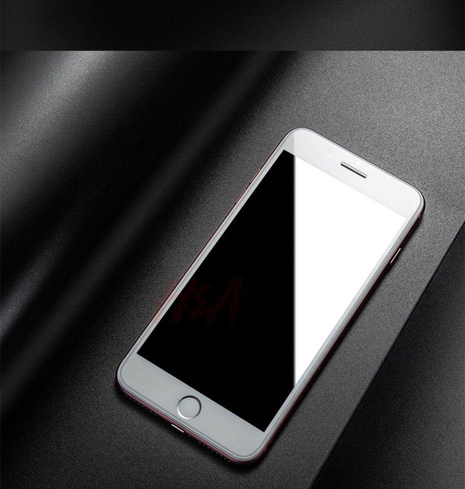 Nuevo 5D de cubierta completa Edge Tempered Glass para iPhone 7 8 6 Plus Protector de pantalla para iPhone 6 6s 7 Plus Film Protection DHL