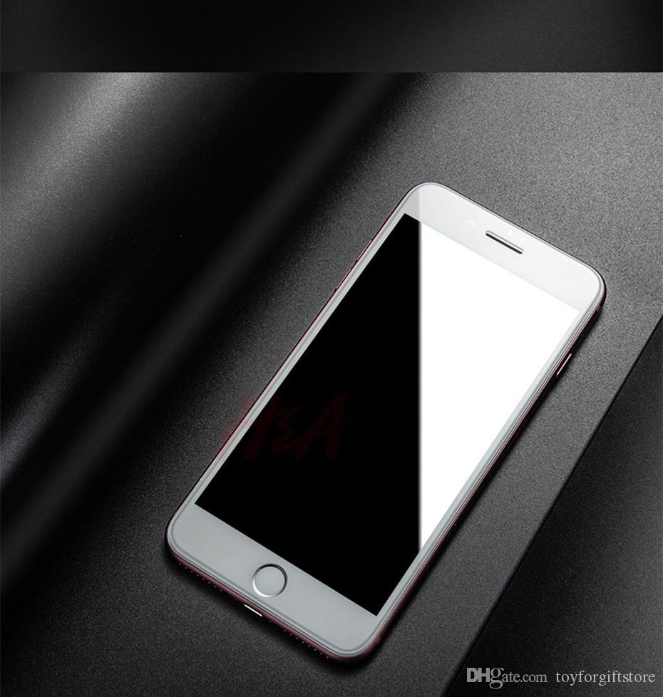 Nuovo 5D Full Cover Edge in vetro temperato iPhone 7 8 6 Plus protezione dello schermo iPhone 6 6s 7 più protezione del film DHL