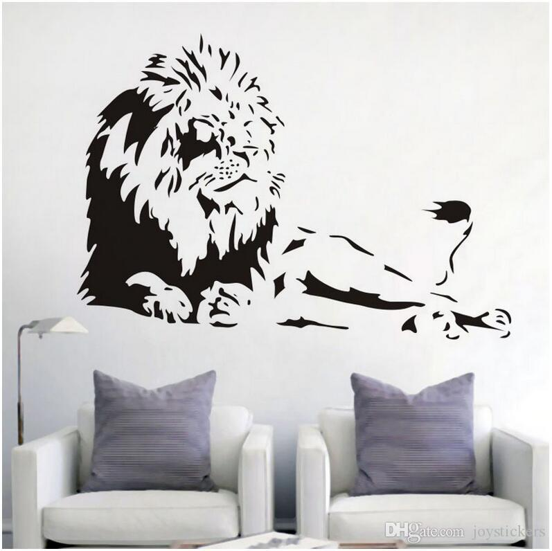 overbearing lion wall art sticker quote sofa background decal vinyl