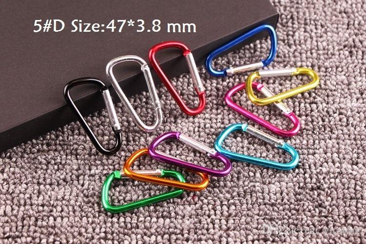 #4#5 Carabiner Snap Hook Hanger Keychain Hiking Camping Colorful Aluminum Spring Carabiner ring