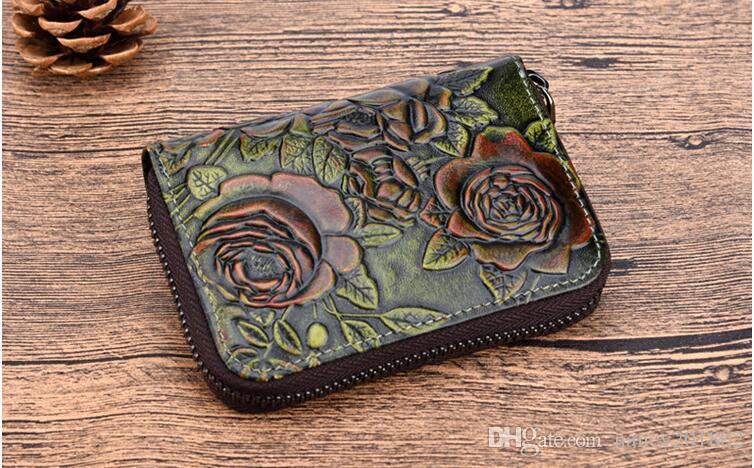 Atacado RFID Bloqueio Seguro de Segurança das Mulheres Compact Titular do Cartão de Crédito Multi-bolsos Acordeão Cartão Caso Mulheres Mini Carteira
