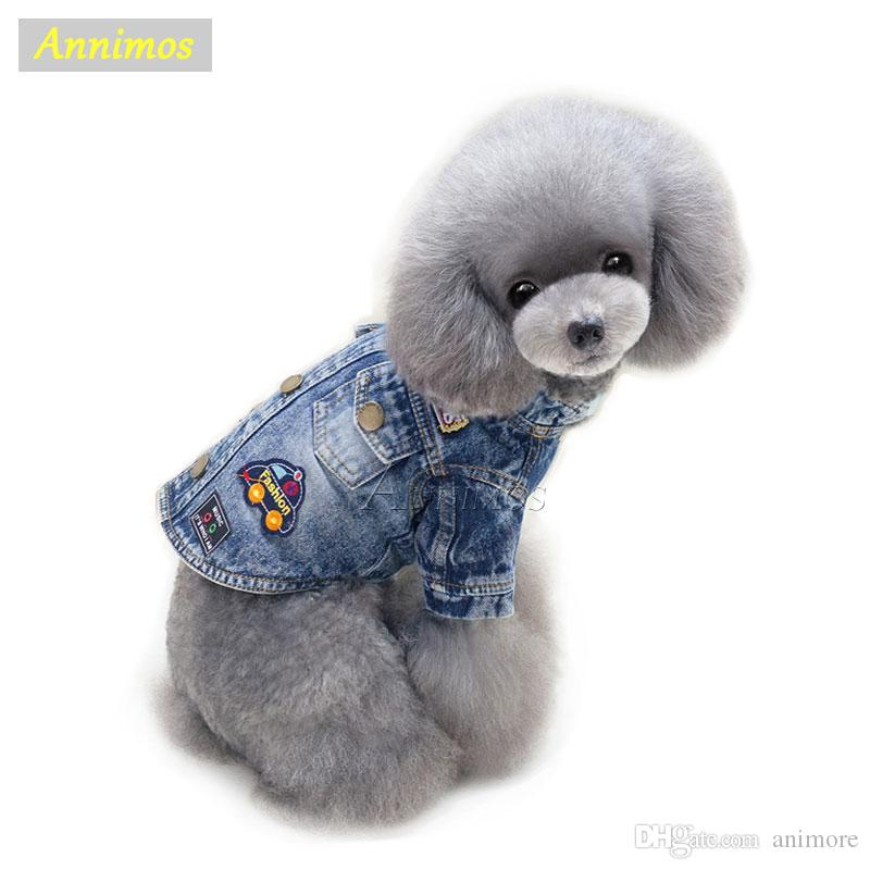 Pet Cartoon Jean Coat Dogs Fashion Jacket Clothes for Chihuahua Yoreshire Puppy 2018 Newest High Quality Chothing -35