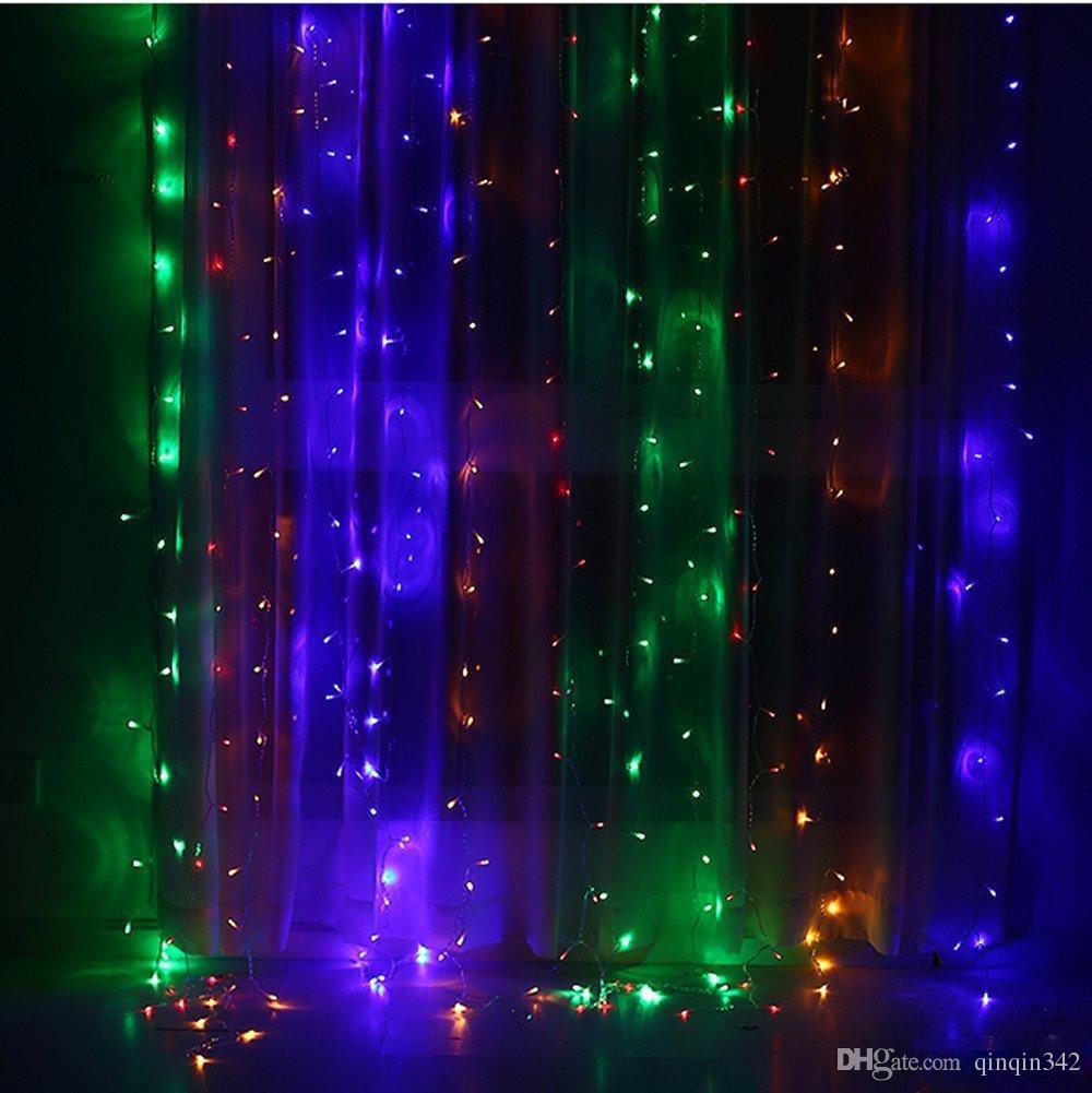 Decorazione di cerimonia nuziale luce 3Mx3M 306 fili led tenda stringa fata luce 306 lampadina Xmas Natale Matrimonio casa decorazione del partito del giardino