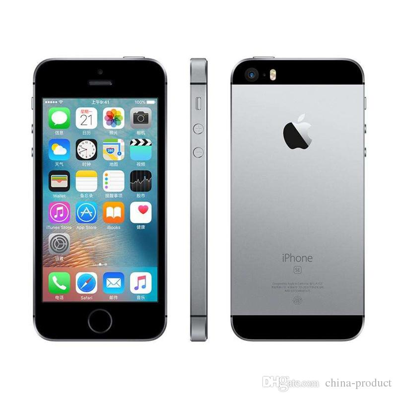 "Original Refurbished Apple iPhone SE with Fingerprint Unlocked IOS Dual Core WCDMA 3G Smart Phone 2GB RAM 16GB 64GB ROM 4.0"" 12MP"
