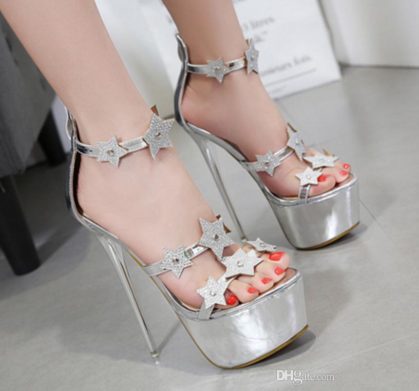 5089edd8bdfa8 20153856 hochhackige Schuhe der Frauen 16cm arbeiten Schuhe Dame Schuhe um