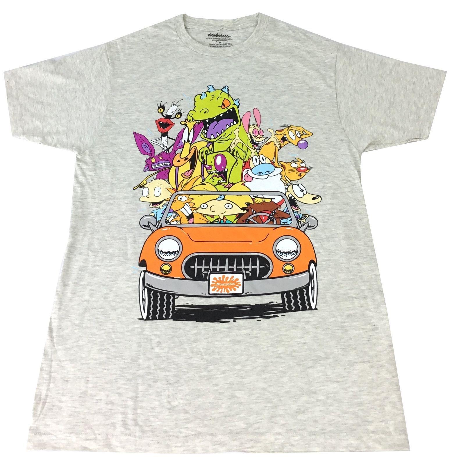 69b24f3f0ff Nick Nickelodeon 90s Characters Throwbakc Shirt Mens Adult Medium Mens 2018  Fashion Brand T Shirt O Neck 100%cotton T Shirt Tops Tee Formal Shirts  Denim ...