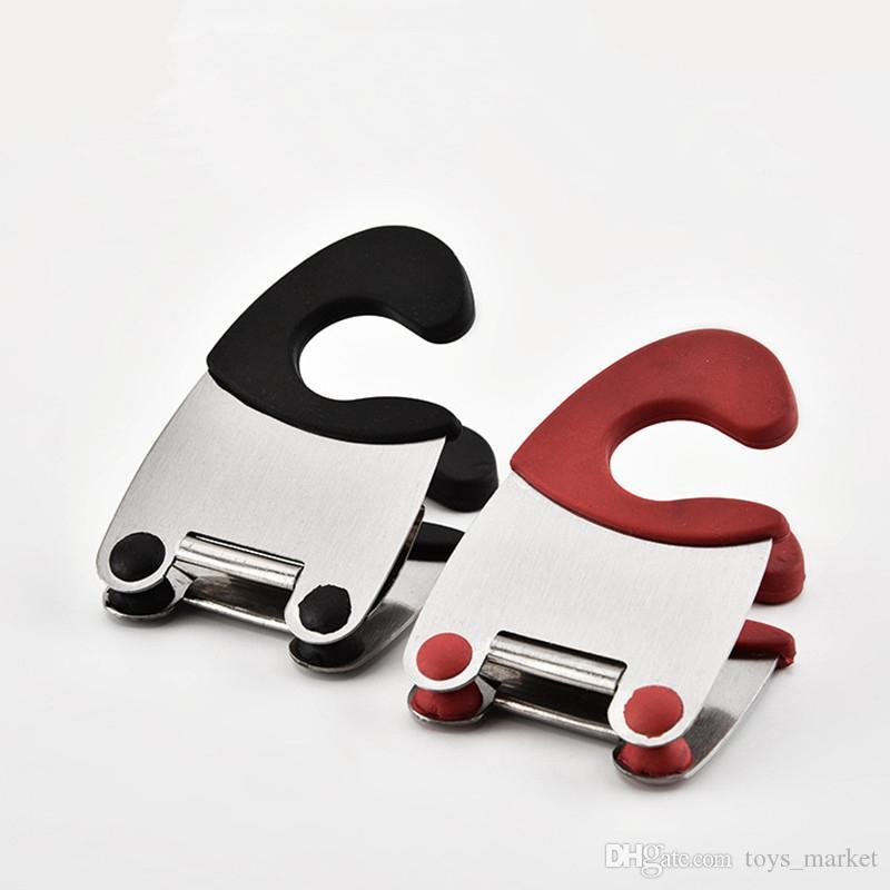 Neue küche löffel topf clip löffel topf halter handliche küche gadget löffel rest organizer küche werkzeug
