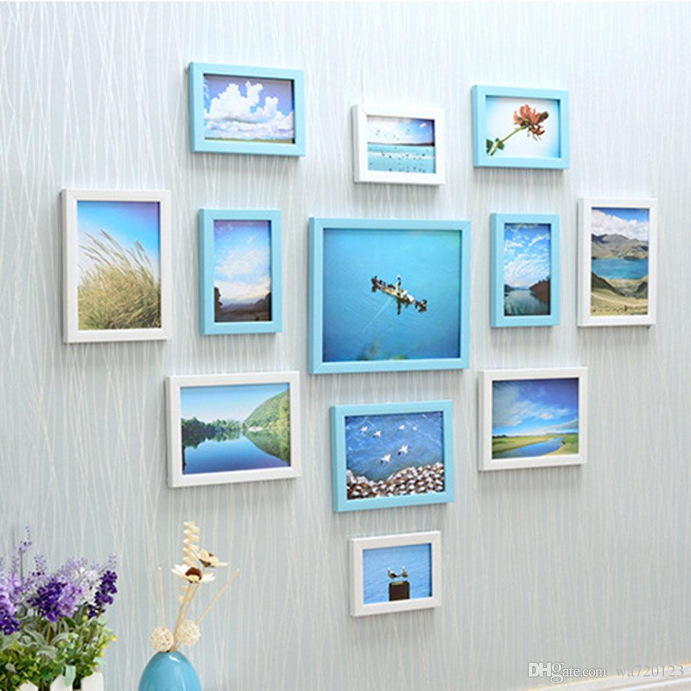 Photo Wall Wooden Frames Combination5/6/7/10 Inch Decorative Picture ...