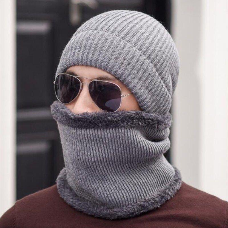 afdb3d6f8b8 2019 Seioum New Winter Hats Neck Warmer Hat Wool Skullies Beanies Hat  Winter Beanies For Men Women Add Fur Lining Warm Knitted From Diedou