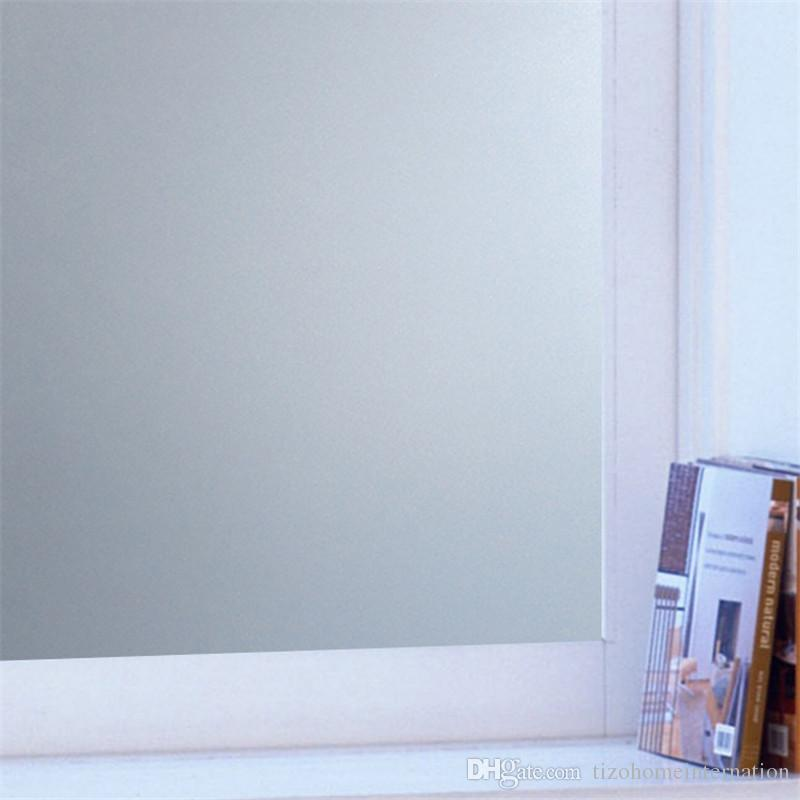 promotional 45cm width Matte Frosted Window Film Window Stickers Privacy Sticks No Glue Window Stickers Electrostatic