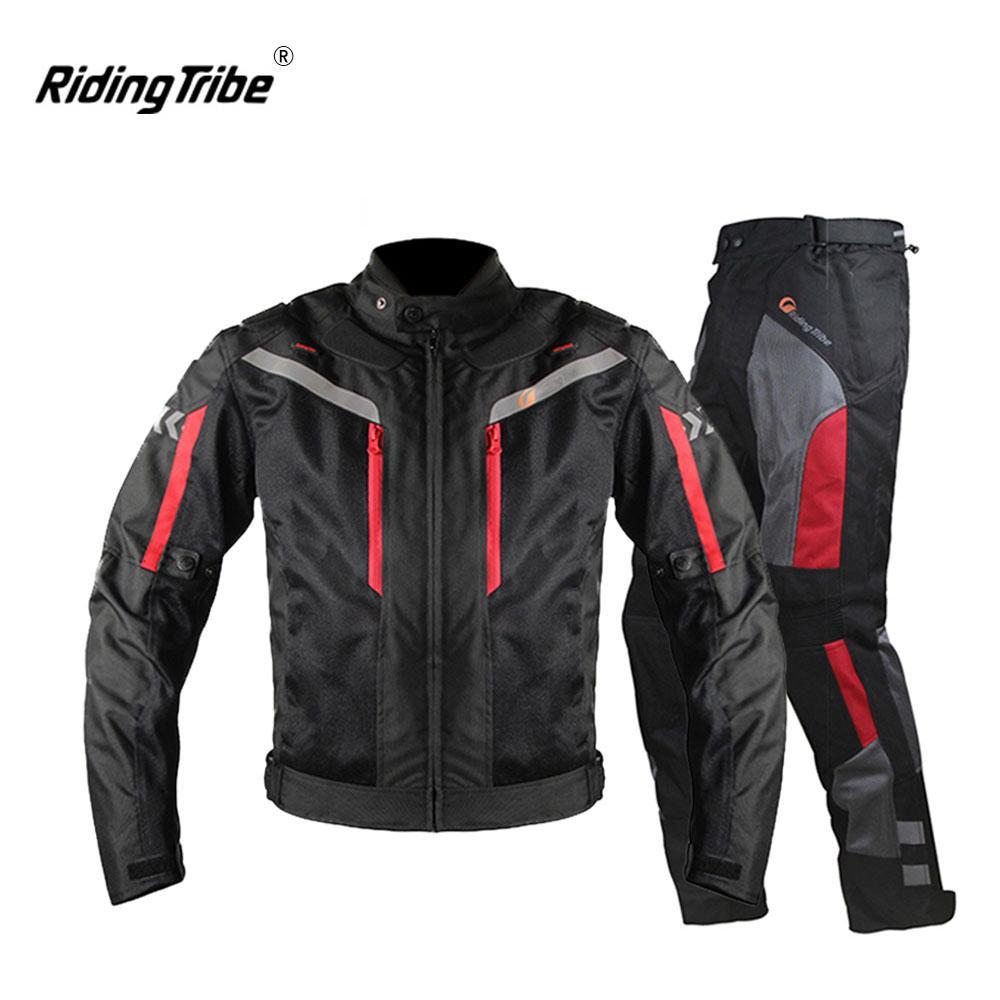 c0a104714b2 Compre Montar Tribe Motocicleta Chaqueta Hombre Transpirable Pantalones Moto  Moto Chaqueta A Prueba De Viento Moto Crucero Touring Ropa Impermeable A   59.7 ...