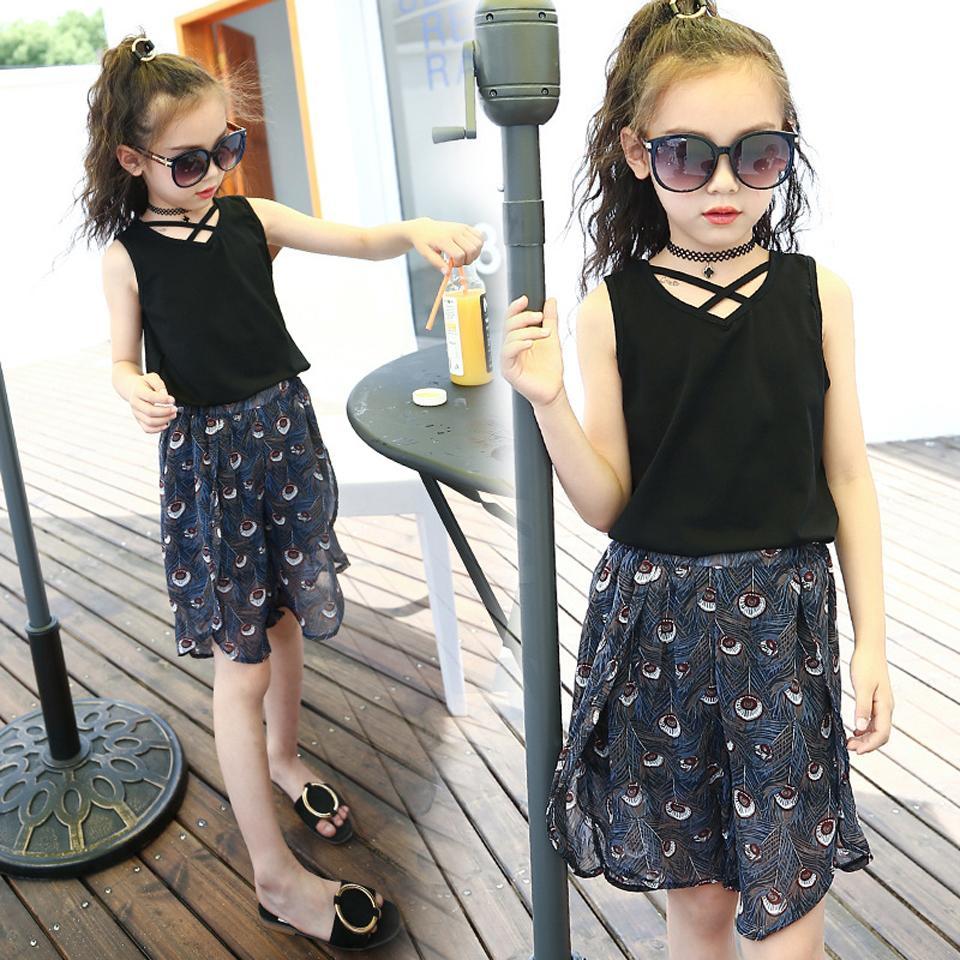 e8cd85df228b 2019 Fashion Korea Style 2018 Kids Girls Clothes Set Blouse Top ...