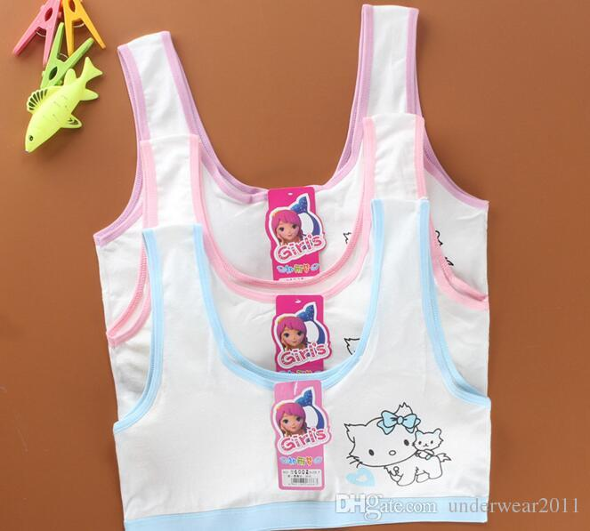 a8d5019090 2019 Wholesale Girls Tank Tops Girl Sports Bra Cotton Underwear Less Than  18 Years Old Girl A146 From Underwear2011