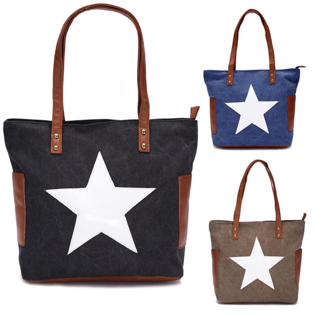 7fbc296f78934 Xiniu Women Messenger Shoulder Bags Big Casual Solid Handbags Hobo Canvas  Bag Star Torebki Damskie 2018 Znanych Marek Womens Handbags Toting From ...