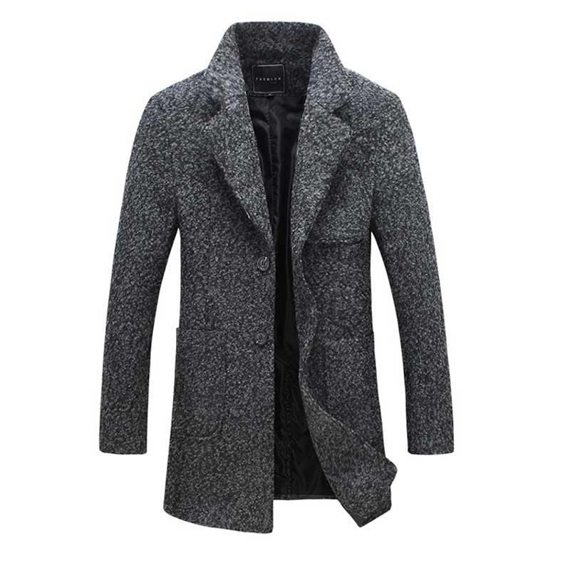 5xl Herren Mantel Wolle Lange Woolen Großhandel Jacke tUqFIwwxR