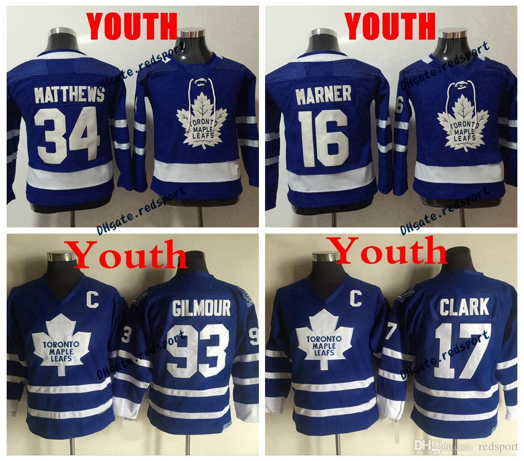 Купить Оптом 2018 Ad Youth Hockey Jerseys Торонто Кленовые Листья 34 Остин  Мэтьюз 16 Митчелл Марнер Kids Boys 93 Дуг Гилмор 17 Wendel Clark Jerseys ... 5011f5a70cd