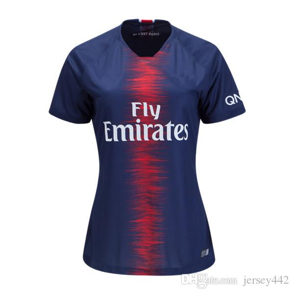 promo code 44d42 206d2 2018/19 Women Kylian Mbappe Home Soccer Jersey 2019 Marco Verratti Edinson  Cavani Football Shirt Di Maria Neymar Thiago Silva Uniforms