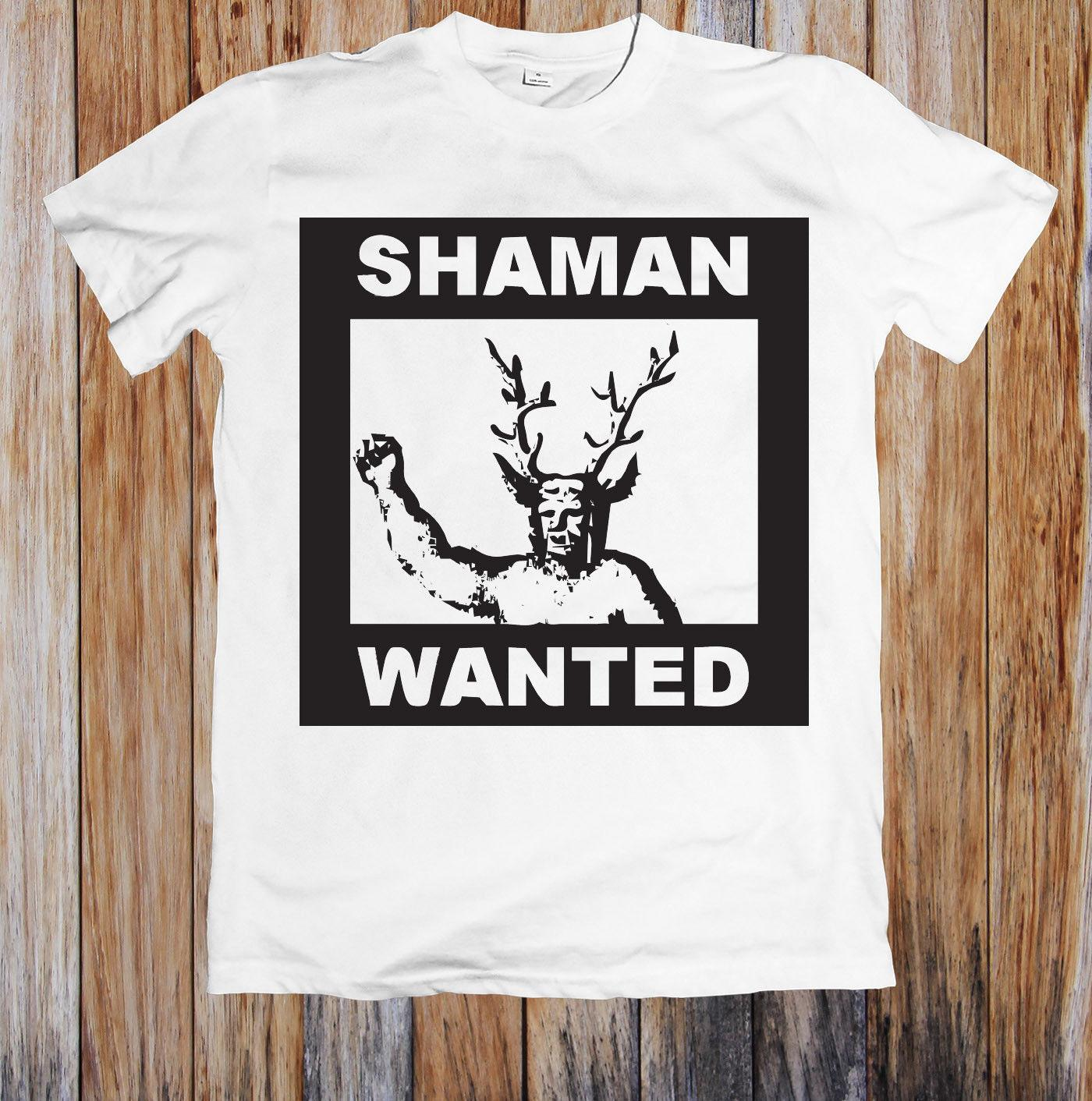 6ea518a52 SHAMAN WANTED UNISEX T SHIRT Buy Shirt Designs Funny Clever T Shirts From  Bincheng2, $11.56| DHgate.Com