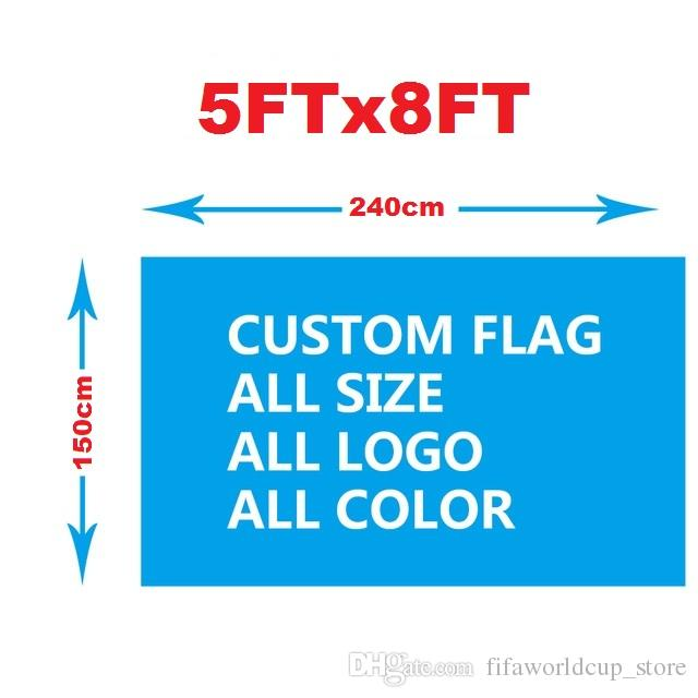 b5f161b86df 2019 Custom Single Side Flag 2x3FT 3x5FT 4x6FT 5x8 FT 6x9 FT 100D Polyester  We Design Any Logo Any Color Home Decoration Custom Flag Banner From ...