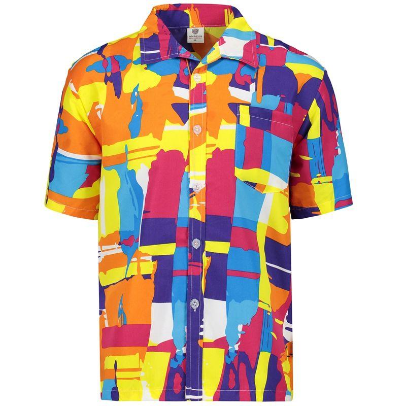 Compre 2017 Verão Quente Camisa Havaiana Homens Casual Praia Camisas De  Manga Curta Novo 2017 Masculino Camisa Camisas Aloha Asiático Sizes 5xl De  Pamele 90bdc62c0fa54