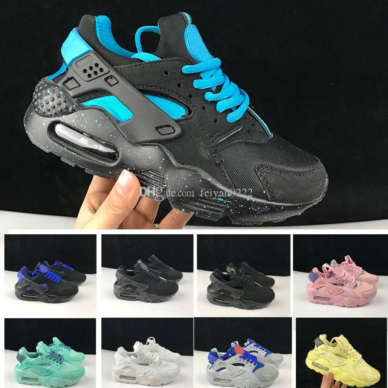 1934b8807bed Air Huarache Ultra Running Shoes Big Kids Boys And Girls Black White Air  Huaraches Huraches Sports Sneakers Athletic Trainers Shoes A035 Girls  Tennis Shoes ...