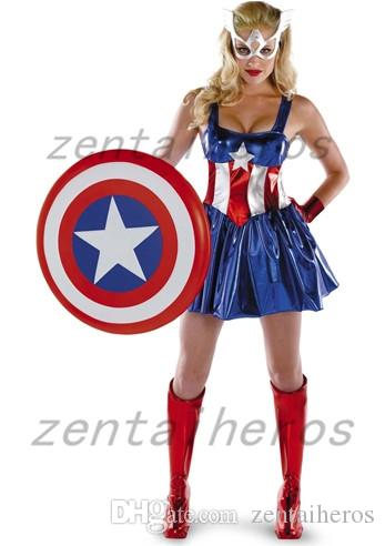 American Dream Sassy Deluxe Sexy Captain America Superhero Halloween Costume