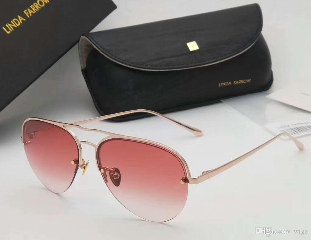 6905c876c9 Linda Farrow LFL543 Pilot Sunglasses Titanium Size 60 16 145 ...