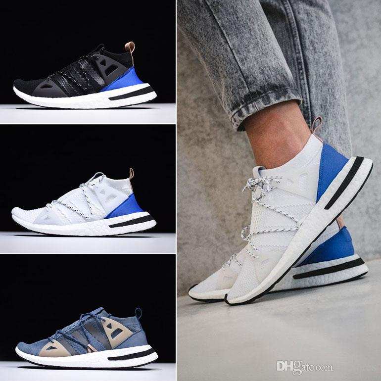 cc3d4cf1282c 2018 New Arrival Arkyn W Boost Rubber Trimmed Colorblock Mesh Sneaker  Trainers Shoes Men And Women Running Shoes Black White Blue Skechers Running  Shoes ...