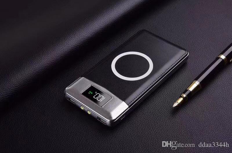 Capacidad inalámbrica de 20000mAh del banco de energía para iphone 8 8Plus Batería externa Puertos Micro-USB Carga rápida Dual USB
