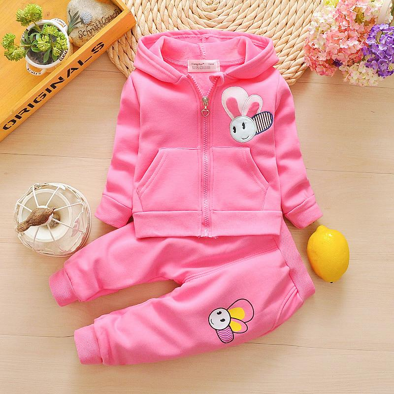 Spring Autumn Girls Clothing Sets Children Girls Hoodies Coat+Pants Tracksuit Set Kids Girls Spring Sport Suit Outfits