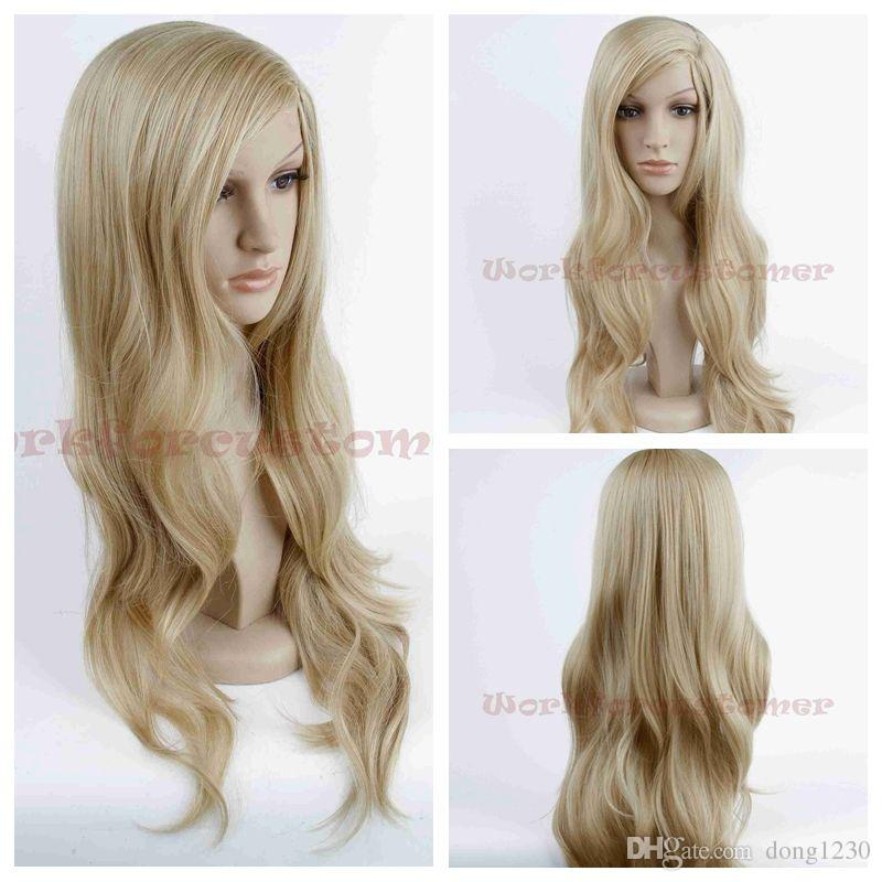 Women S Blonde Wig Long Wig Wavy Synthetic Heat Resistant Hair Wig Cosplay  Brown Wigs Full Lace Wig Uk From Dong1230 217ec02386