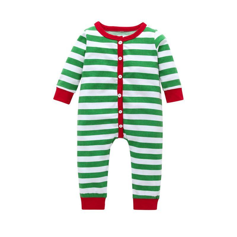 0694fb540892 2019 New Baby Girls Boys Christmas Clothes Striped Cotton Autumn ...