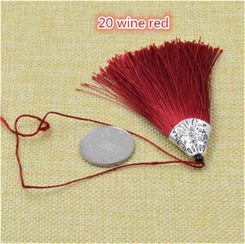 20 шт./лот 80 мм китайский узел кисточки ручной работы длинные шелковые кисточкой подвески для кисточкой ювелирные изделия материалы