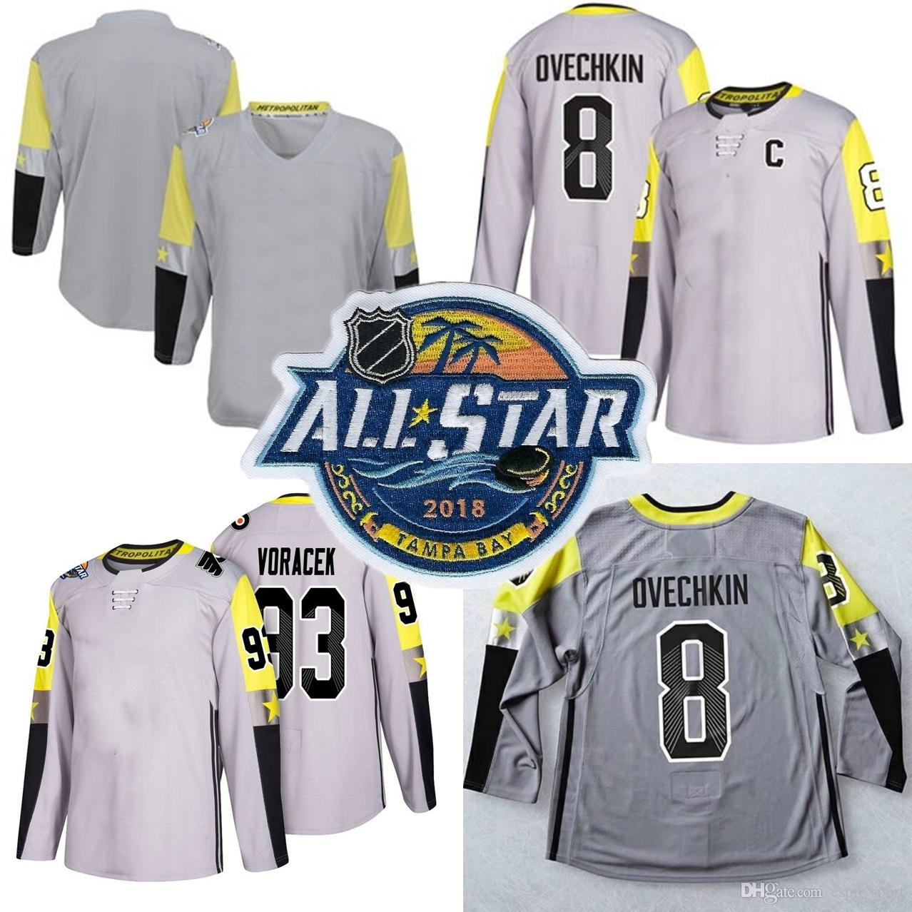 Metro Division 2018 All Star Game Jerseys Taylor Hall Claude Giroux John  Carlson Sidney Crosby 8 Alex Ovechkin All Star Hockey Jerseys UK 2019 From  ... c2054c7e3ed