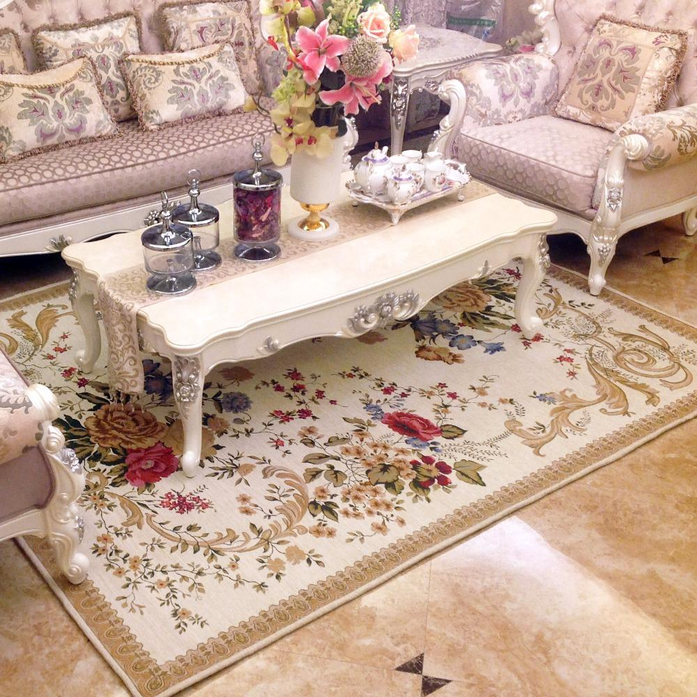 Large British Countryside Carpets For Living Room Flower Home Decor