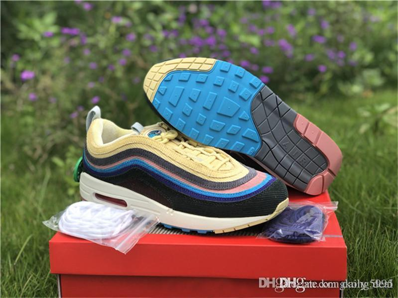 Authentic 2018 97 Sean Wotherspoon 1 97 VF SW Hybrid Running Shoes Sneakers  For Men Women With Box Accessories And Dustbag Best Running Shoes For Flat  Feet ... 0bba4f165