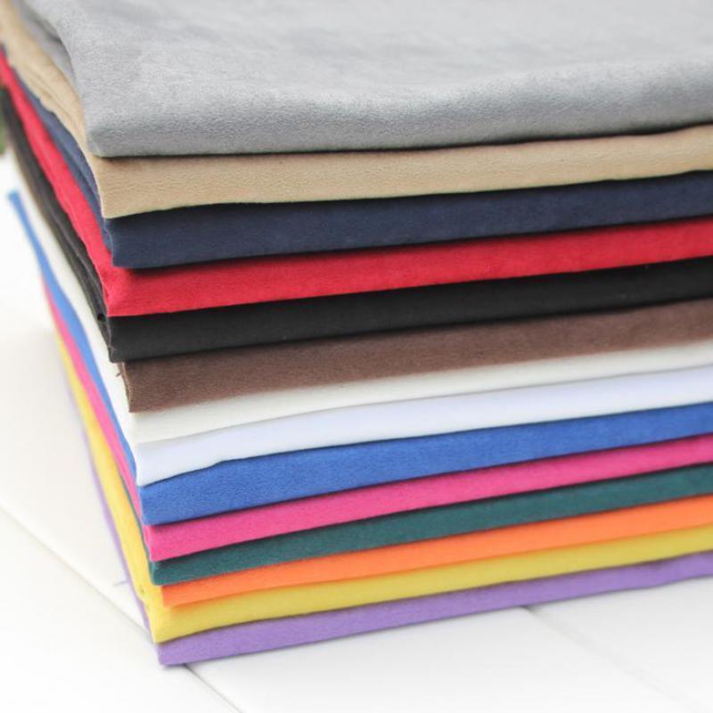 2cb920faba Acquista 50x145cm Tessuto Ecopelle Scamosciato Nero All'ingrosso Tessuto In Finta  Pelle Scamosciata Texitle Abbigliamento Abbigliamento Materiale Morbido ...
