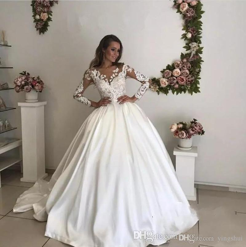 Dressv Ivory Wedding Dress Strapless Long Sleeves Chapel: Discount Luxury Chapel Train Wedding Dress White Ivory