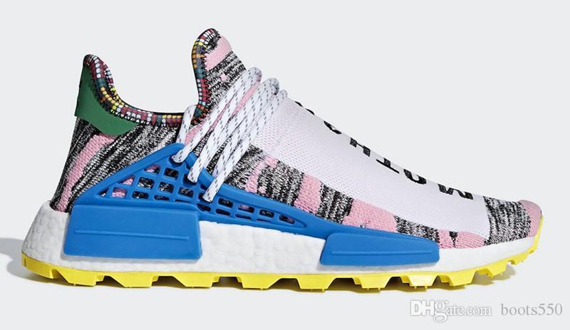 d275f9763 2018 Top Pharrell Williams X Originals NMD Hu Trial Solar Pack MOTH3R M1L3L3  Human Race Men Women Running Shoes Authentic Sneakers With Box Hoka Running  ...