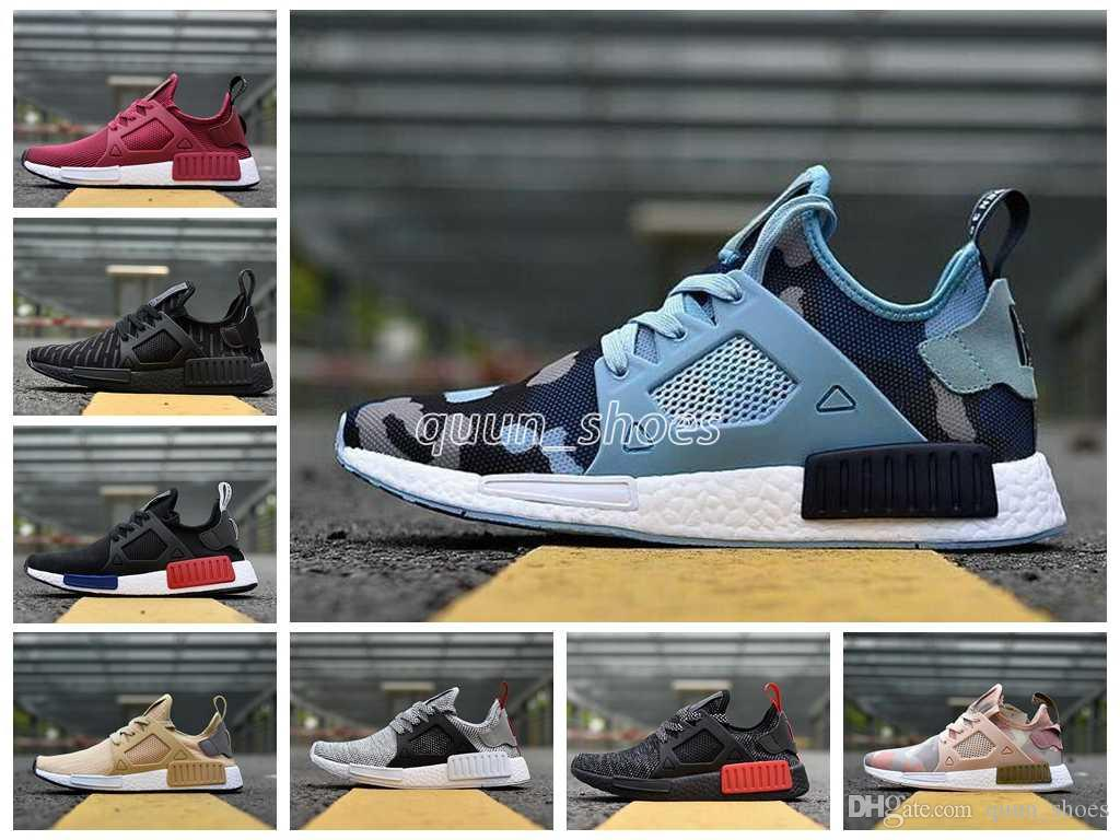 392a82ba6be2 2018 NMD XR1 Running Shoes Mastermind Japan Skull Fall Olive Green Camo  Glitch Black White Blue Zebra Pack Men Women Sports Shoes 36 45 Best  Running Shoe ...