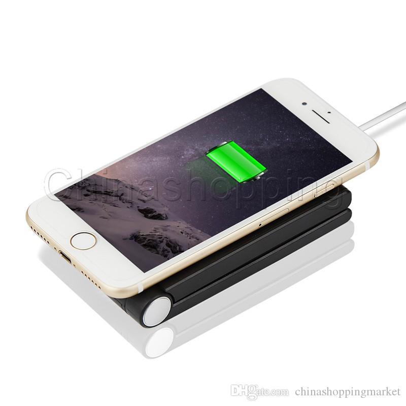 شاحن عالمي قابل للطي مع حامل لشحن سامسونج S8 بلس S7 Edge Note 8 iPhone X 8 مع حزمة البيع بالتجزئة