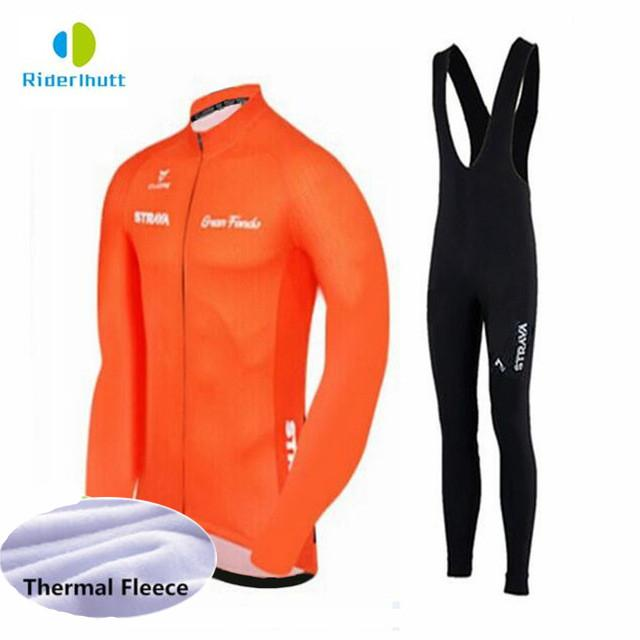 Cheap Winter Thermal Fleece Cycling Clothing 2018 Men Jersey Bike Bicycle  Suits Cycling Kit Green Yellow Red Blue Ropa Ciclismo Sets 2242984b2
