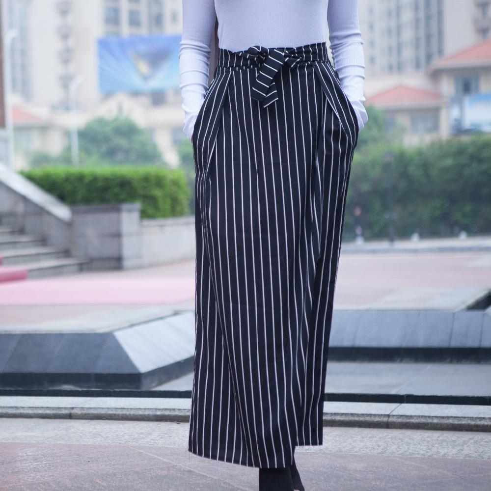 grossiste d28ce 4f252 Faldas mujer moda 2018 Femmes D été Jupes Rayé Longues Jupes Musulmanes  Jupe Longue Femme Dubaï Turc Islamique Jupe avec Poches