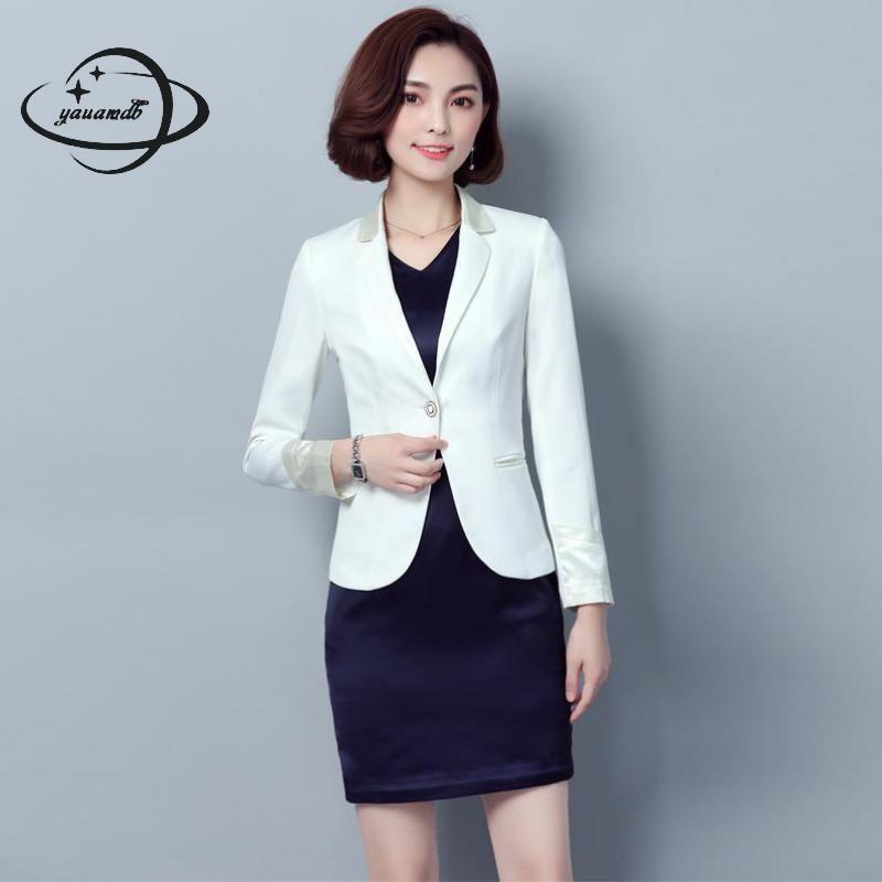 2019 Yauamdb Women Dress Suits 2018 Spring S 3xl Polyester Female