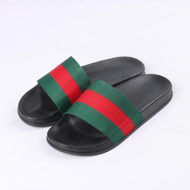 e68ada332b7 Luxury Men Designer Slippers 2018 Summer Men Beach Shoes House Slippers For Men  Sandals Thick Bottom Shoes Outdoor Man Flip Flops Q 167 Acorn Slippers ...