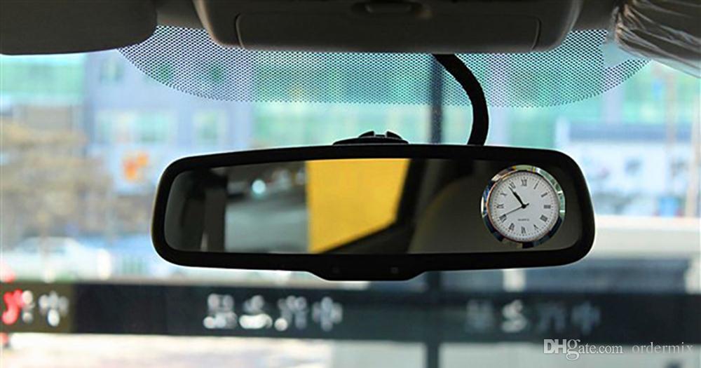 Ornements de voiture Auto Évents sortie Quartz Horloge clip automobile Montre Voitures Intérieur Tableau de bord bâton sur les accessoires Horloge