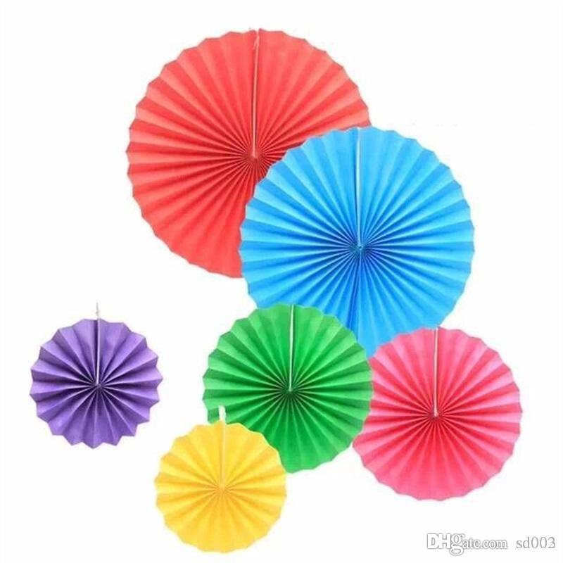 2019 Tissue Paper Fans For Wedding Party Birthday Decorations Supplies Colorful Pinwheels Shape Hanging Flower Crafts New 11yj ZZ From Sd003